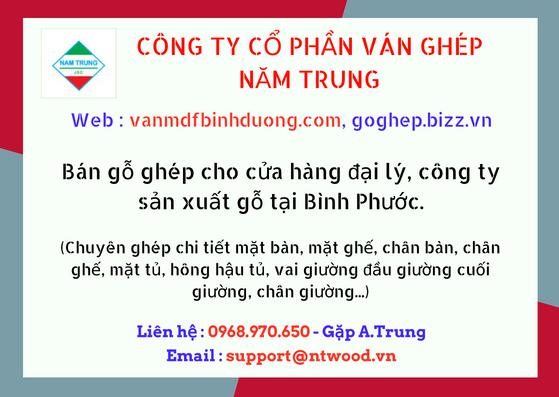Cung cấp, bán nguyên liệu ván gỗ KCN Bình Phước