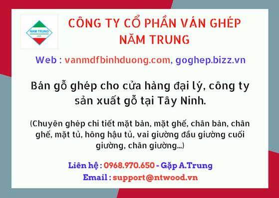 Bán nguyên liệu ván gỗ ghép KCN Tây Ninh