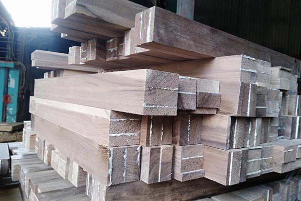 Chân bàn gỗ Óc chó - walnut