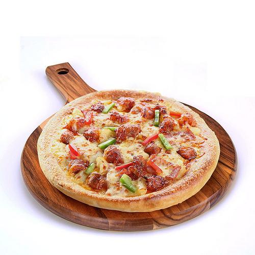 Gia công ghép thớt gỗ cắt bánh Pizza loại có tay cầm