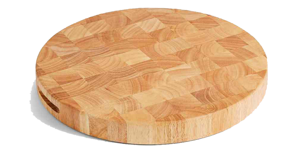 Thớt tròn gỗ cao su Endgrain CTBbizz6687