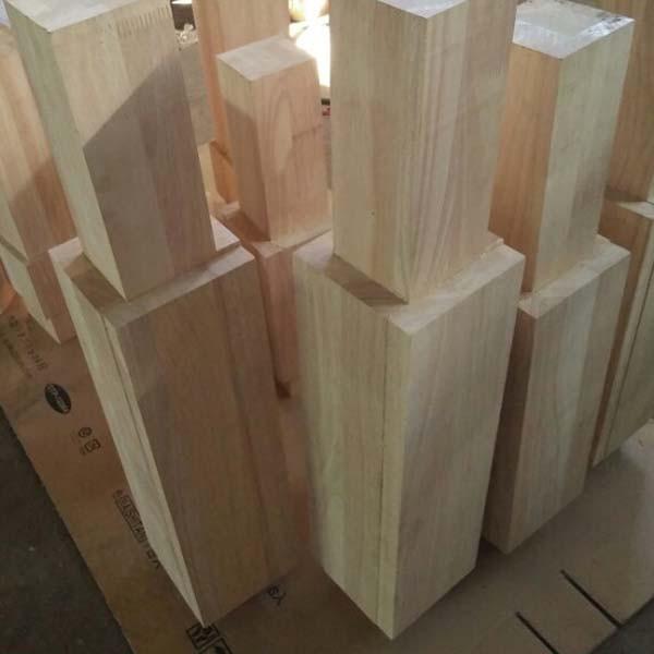 Chân gỗ cao su ghép theo thiết kế đơn đặt hàng