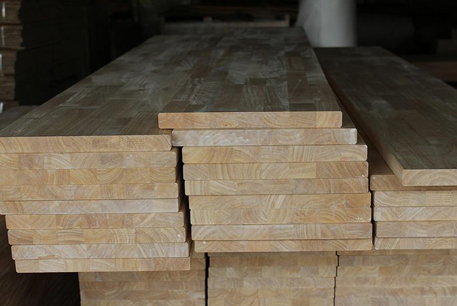 Ván gỗ cao su ghép mộng đứng, mộng nằm, nguyên thanh, khối vuông, khối hộp