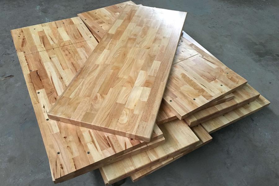 Mặt bàn gỗ cao su 400x1200
