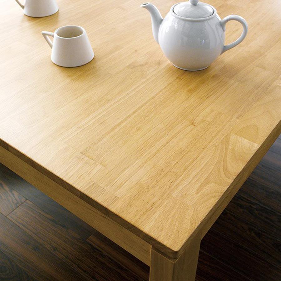 Mặt bàn gỗ cao su vuông 800 x 800mm