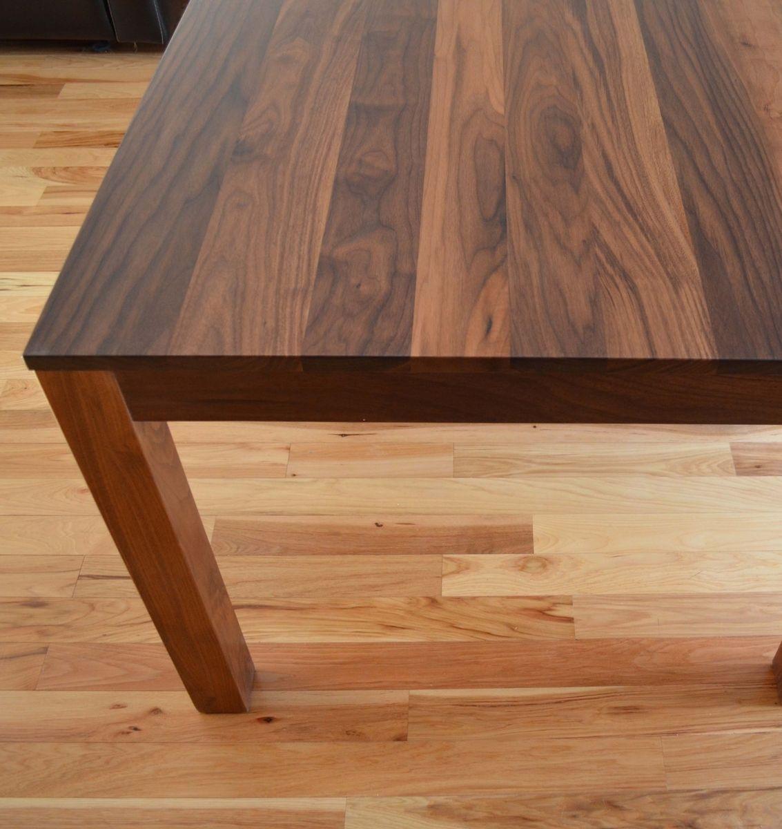 Mặt bàn gỗ óc chó vuông 800 x 800mm