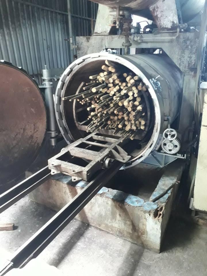 Gia công tẩm cây gỗ tre