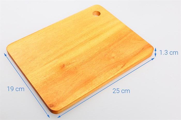 Thớt gỗ chữ nhật 190 x 250mm