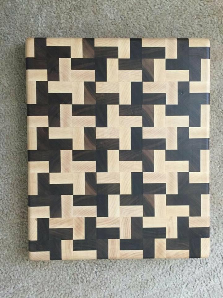 Thớt gỗ ghép mỹ thuật