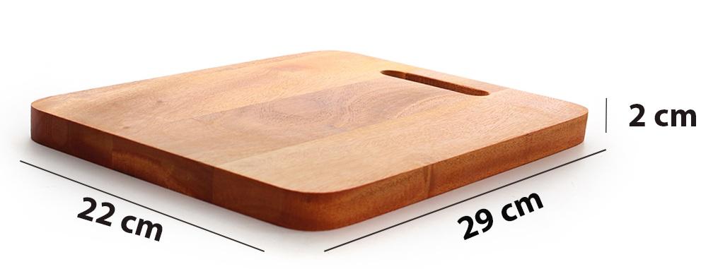 Thớt gỗ xà cừ 220 x 290mm