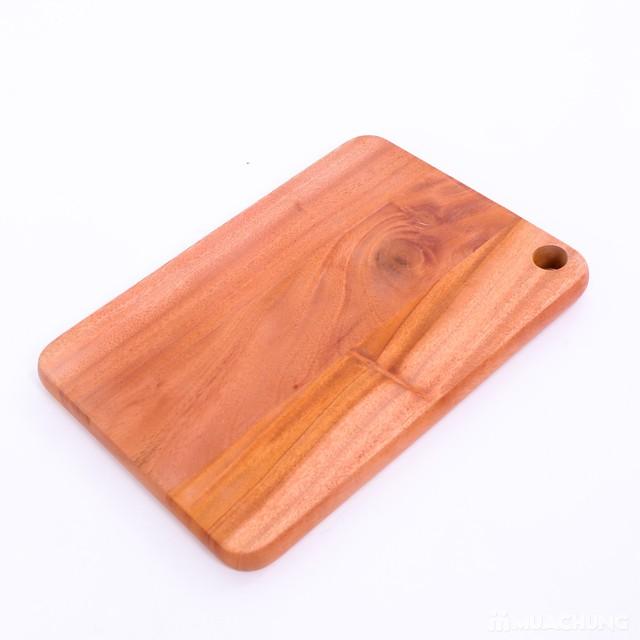 Thớt gỗ Xà cừ ghép chữ nhật