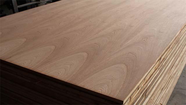 Ván gỗ ghép dán phủ veneer Xoan Đào