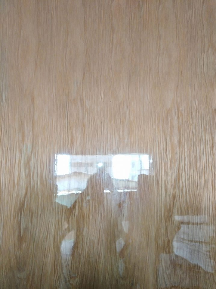 Ván gỗ veneer gỗ Sồi phủ keo bóng