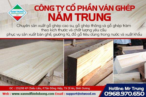 Ván gỗ ghép Miền Nam