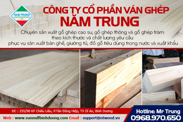 Ván gỗ ghép Miền Trung
